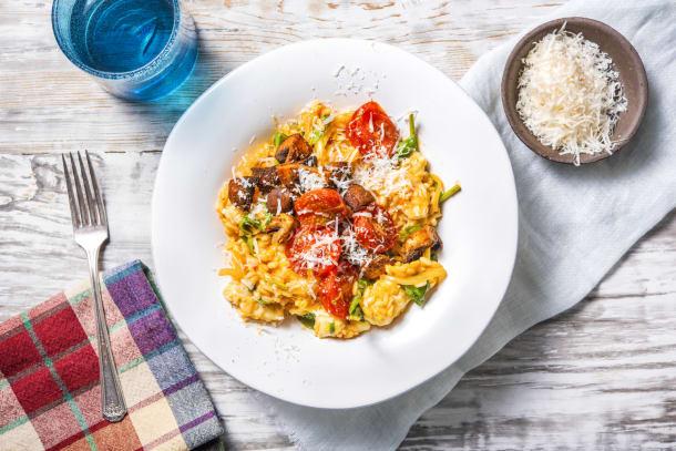 Schnelle Gerichte - Cremiges Risotto mit Champignons