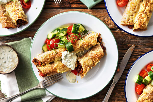 Food For Thought - Crispy Cheese Enchiladas