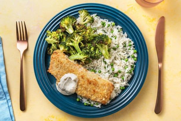 Crispy Roasted Salmon and Broccoli