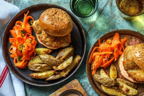 Quick Meals - Crumbed Chicken Burger