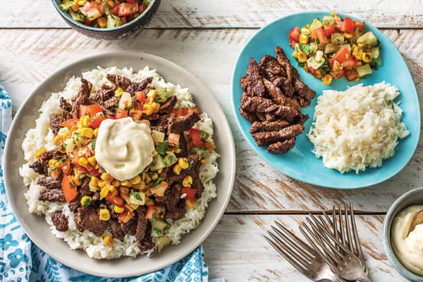 Cuban Beef & Rice Bowl