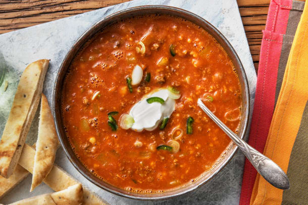 Curried Beef and Chickpea Soup