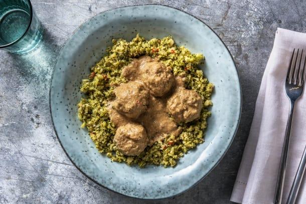 Thermomix Rezepte - Curry-Fleischbällchen