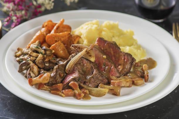 Low Calorie Meals - Deconstructed Fillet Steak Bourguignon