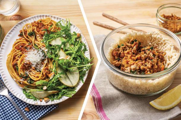Pork & Sun-Dried Tomato Pesto Spaghetti for Dinner