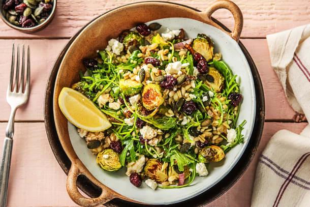 Vegetarian Recipes - Feta & Barley Bowl