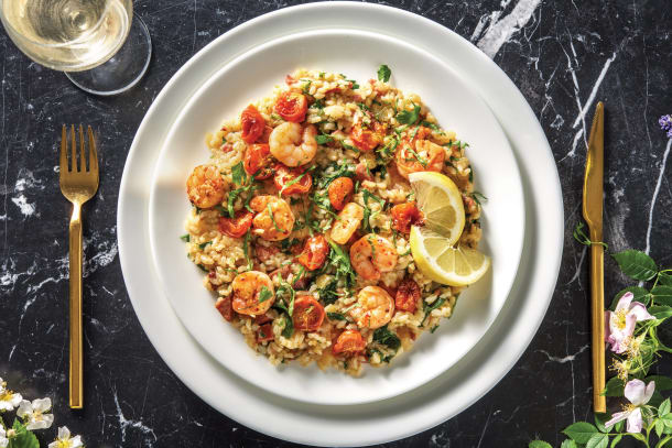 Garlic Prawn & Chorizo Risotto