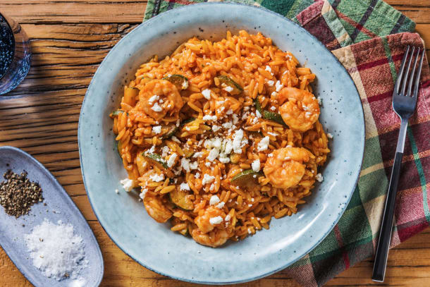 Quick Meals - Garlicky Prawn and Tomato Orzo