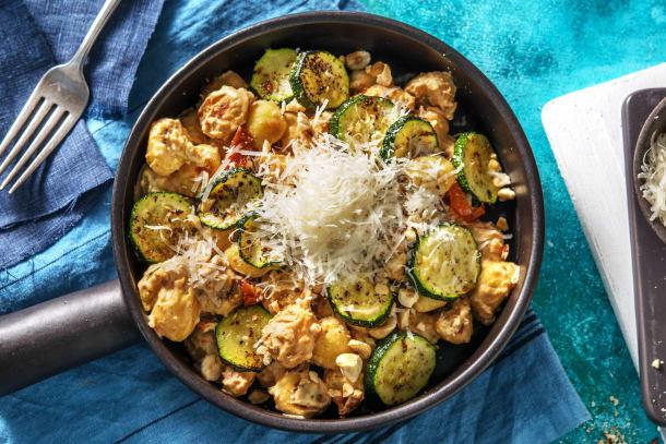 Gesunde Gerichte - Gebratene Gnocchi mit Ofenzucchini