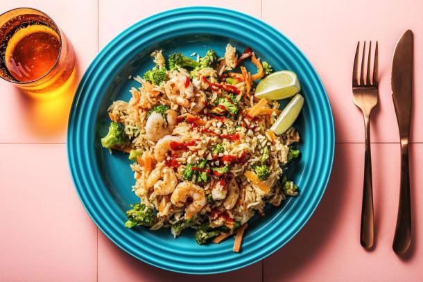 Leichter Genuss - Gebratener Reis mit Garnelen