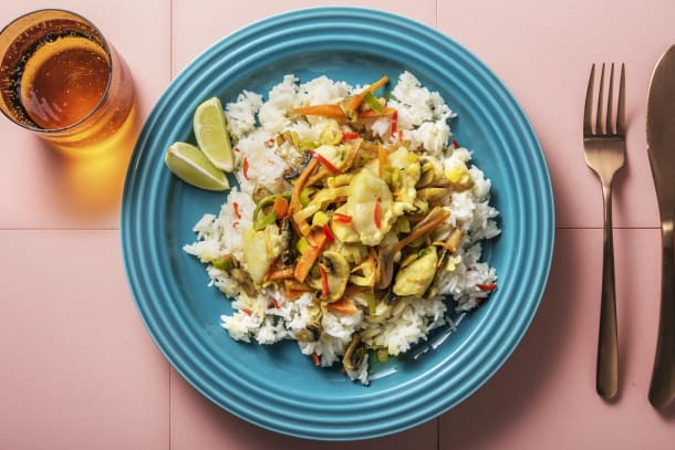 Leichter Genuss - Gelbes Curry mit Fisch