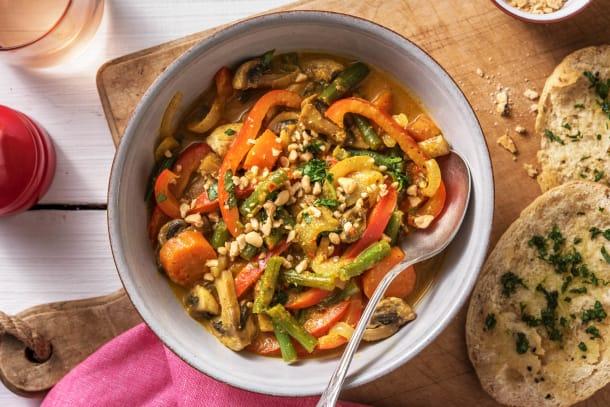 Schnelle Gerichte - Gelbes Curry mit Ofengemüse