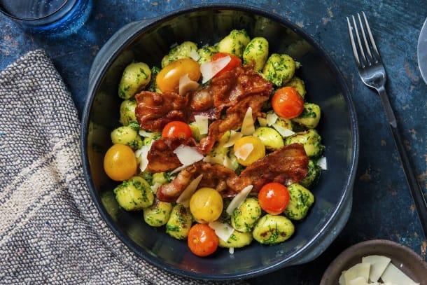 Gnocchi mit Bärlauch-Kürbiskern-Pesto