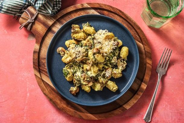 Gesunde Gerichte - Gnocchi-Spinat-Auflauf