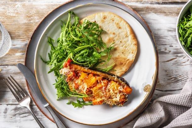Kalorisnåla måltider - Gratinerad aubergine