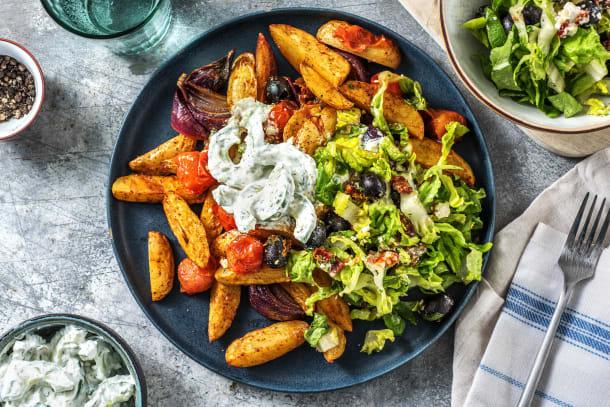 Leichter Genuss - Griechische Kartoffelsalat-Bowl