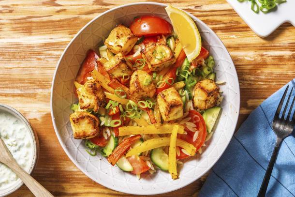Griechischer Orzo-Nudel-Salat