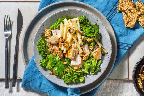 Grilled Chicken with Quinoa Brittle