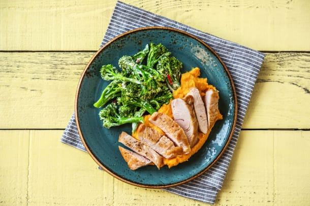 Leichter Genuss - Hähnchenbrustfilets mit Brokkolini