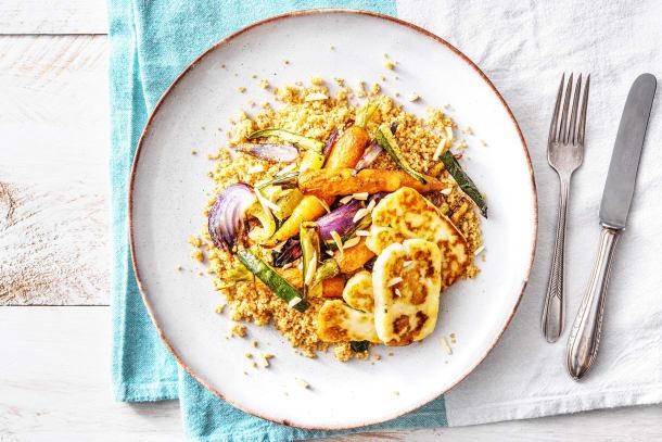 Snabba Middagstips - Halloumi och rostade morötter