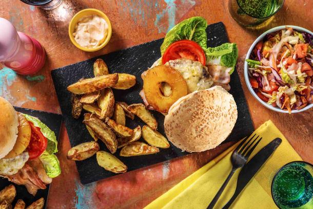 Hawaiian Beef & Double Bacon Burger