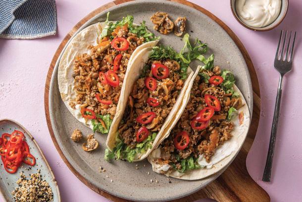 Hoisin Pork & Mushroom Tacos