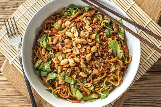 Speedy Japanese-Style Pork and Ramen Noodle Stir-Fry