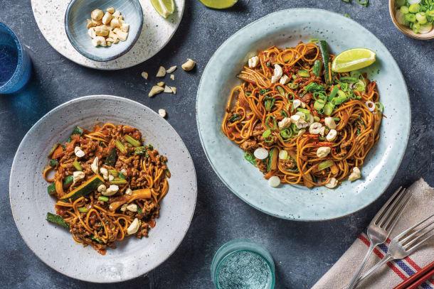 Honey-Soy Beef & Ramen Noodles