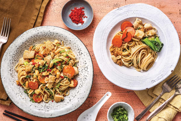 Honey-Soy Chicken Noodles