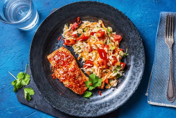 Kalorisnåla måltider - Honung- och sojaglaserad lax