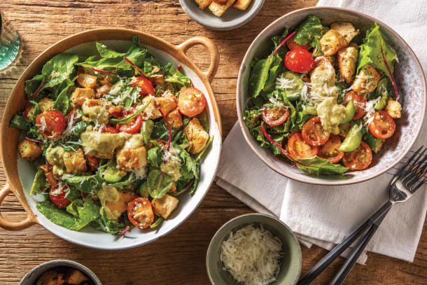 Low Calorie Meals - Italian Chicken Salad & Bacon Croutons