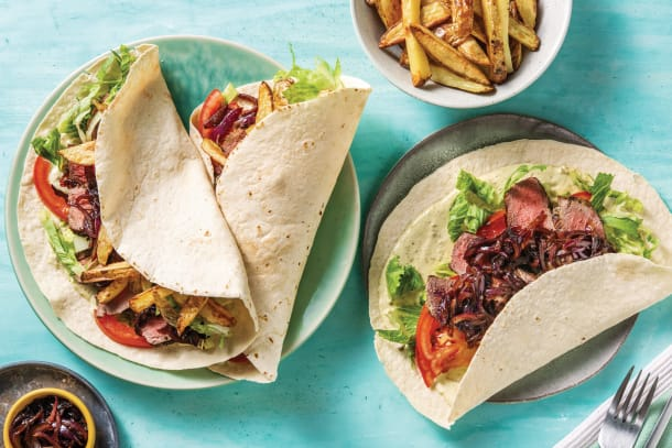 Quick Meals - Italian Steak & Creamy Pesto Wraps