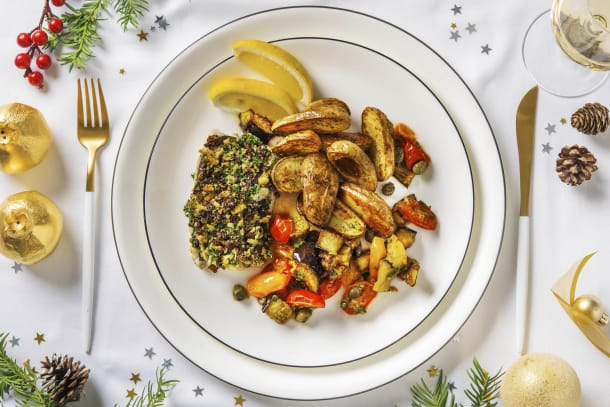 Low Calorie Meals - Italian-Style Christmas-Crumbed Hake