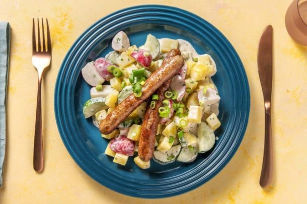 Schnelle Gerichte - Italico-Würstchen mit Kartoffelsalat