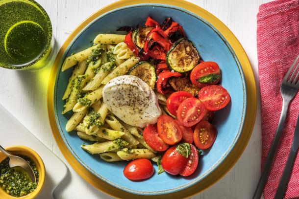 Thermomix Rezepte - Pasta-Bowl mit Büffelmozzarella