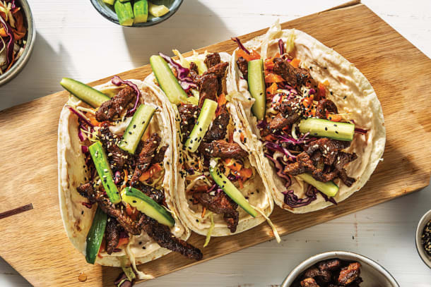 Japanese Beef Tacos