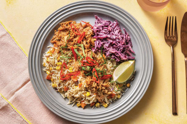 Quick Meals - Jerk Pulled Pork Bowl with Slaw & Coconut