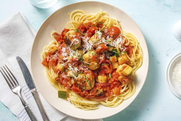 Kycklingbullar i tomatsås
