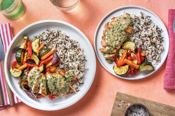 Kalorisnåla måltider - Kycklingfilé med krämig pepparsås
