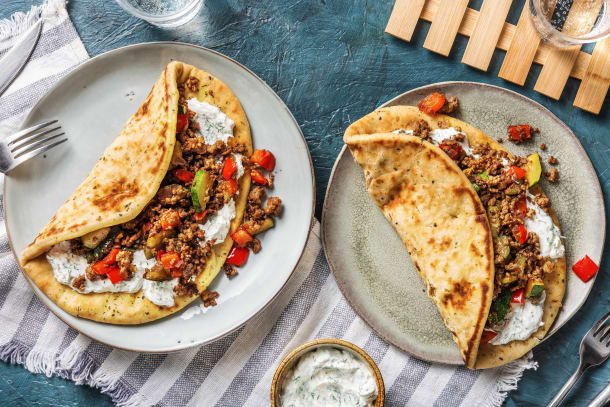 Quick Dinner Ideas - Lamb and Veggie Gyro