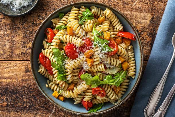 Vegetarian Recipes - Rainbow Pesto Pasta (V)