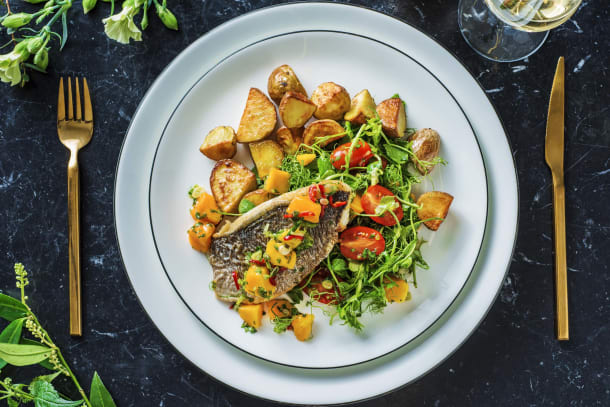 Low Calorie Meals - Limey Sea Bream and Mango Salsa