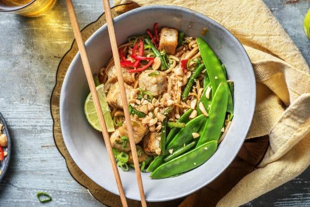 Limey Tofu & Sweet Chilli Noodles