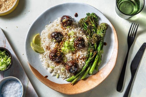 Low Calorie Meals - Hoisin Glazed Vegetarian Meatballs