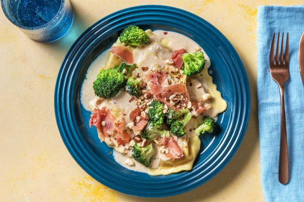 Schnelle Gerichte - Maxi-Ravioli mit Steinpilzfüllung