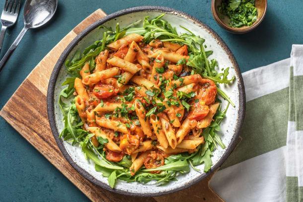 Snelle gerechten - Mediterraanse pasta met pittige sardines uit blik