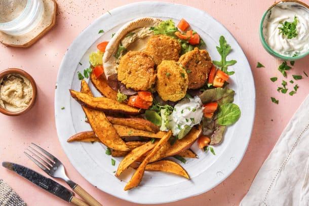 Quick Dinner Ideas - Mediterranean Falafel Wrap