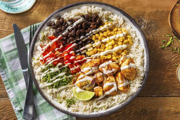 Mexicaanse bowl met kipfilet