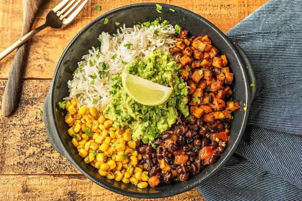 Mexicaanse rijstbowl