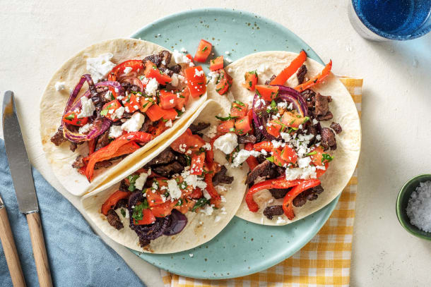 Quick Dinner Ideas - Mexican Beef and Queso Fajitas